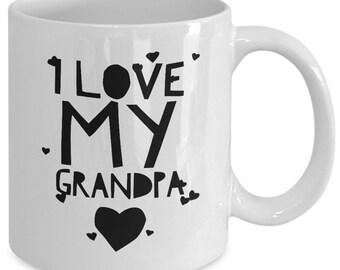 Grandpa coffee mug - I love my grandpa - Unique gift mug for grandfather