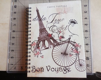 Eiffel Tower Bon Voyage Travel Journal