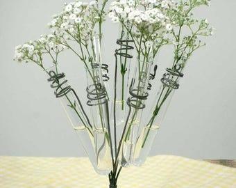 Glass Test Tube Vase Flower Holder