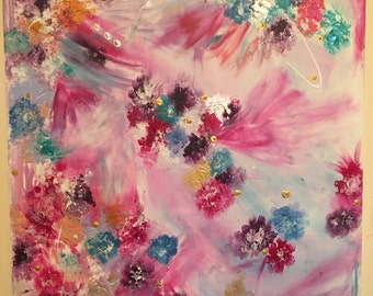 Floral Acrylic Canvas