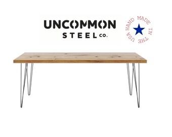 Hairpin Desk, Reclaimed Wood Desk, Hairpin Leg Desk, Computer Desk, Reclaimed Desk, Industrial Desk, Solid Wood Desk, Barnwood Desk