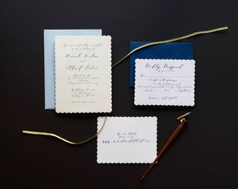 Printable Wedding Invitation Set, Calligraphy