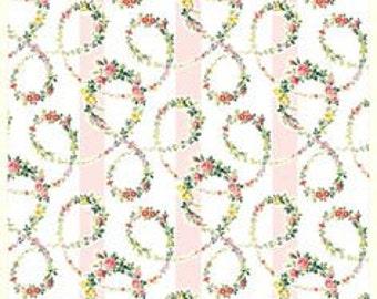 Cotton Fabric Anna Griffin Elegant Floral Sabby Chic - SUPER SALE