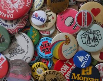 5 Random Vintage Buttons Pins