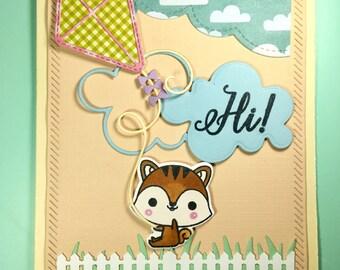 Hi! Hamdmade greeting card A2