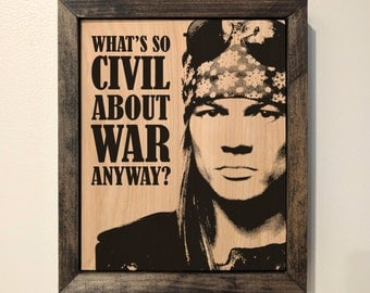 Axl Rose Wooden Sign