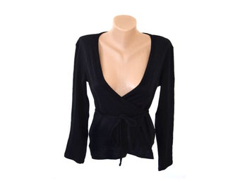 Vintage women top blouse black