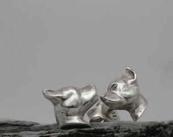 Vakkancs American Staffordshire Bullterrier earrings (solid sterling silver)
