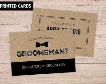 Will You Be My Groomsman Card, Will You be My Groomsman, Personalised Will You Be My Groomsman, groomsman Card, rustic kraft