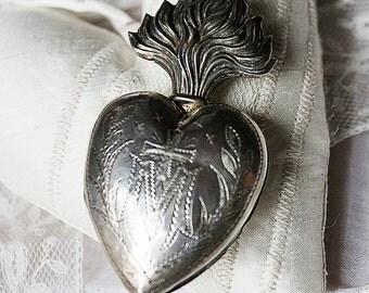 Ex voto Maria, Silberdöschen, franz. 19, century votive box