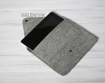 Case iPad 4 Apple case IPad cover IPad sleeve IPad pro bag Handmade Felted Gray Color