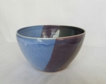 Large Blue and Purple Bowl