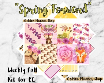 50% OFF! Spring Forward Weekly Sticker Full Kit, Planner Stickers for Erin Condren and Happy Planner