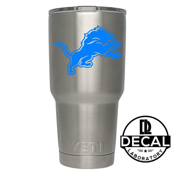 Yeti Decal Sticker - Detroit Lions Decal Sticker For Yeti RTIC Rambler Tumbler Coldster Beer Mug