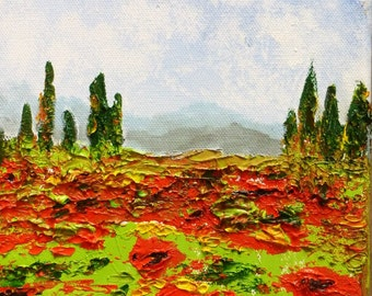 Small landscape in oil - small landscape in oil