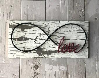 Love Infinity Symbol / Infinity Symbol with Love / Infinity Symbol Decor
