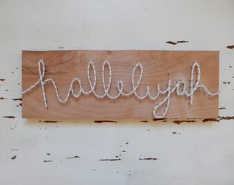 String art hallelujah sign