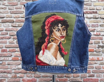 Gypsy girl-faded glory denim biker