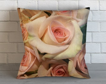 Light Pink Roses Pillow