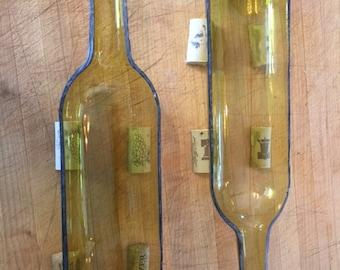 Wine Bottle Half Planter