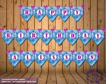 Frozen Birthday Banner.Frozen Party Banner.Frozen Personalized Banner.Frozen Party. Frozen Party Printable.Frozen Party Supplies.Party Decor