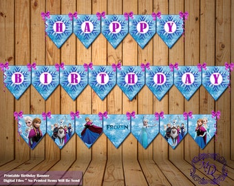 Frozen Birthday Banner.Frozen Party Banner.Frozen Banner.Frozen Party. Frozen Party Printable.Frozen Party Supplies.Party Decor.Frozen.