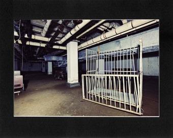 "Custom Matted Print 0312. Abandoned: Marlboro State Mental Hospital, NJ. ""Basement Storage"" - Collectable Photographic Artwork. (11"" x 14"")"