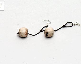 Porcelain, handmade ceramic earrings