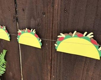 Tacos, Taco garland, taco Tuesday, cinco de mayo, paper garland, paper tacos, taco