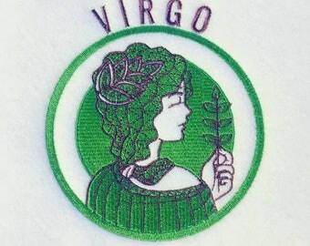 Machine Embroidery Design - Virgo Horoscope - Zodiac Collection #12