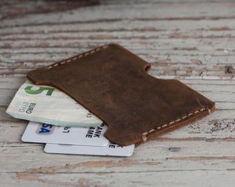 Slim Wallet, Leather Slim Wallet, Mini Wallet, Leather Wallet, Mens Leather Wallet, Mens Wallet, Boyfriend Gift, Gift for him, Card Holder