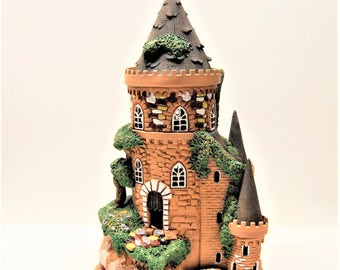 "Big castle. Ceramic candle holder castle.  Fairy castle.Old castle.Castle ""magician"".Fairy homes"