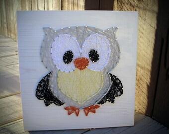 Owl Animal String Art, Owl Nursery Art, Owl Nursery Decor, Owl, String Art, Baby Animals, Baby Shower, Baby Owl, Baby shower gift, Owl gift