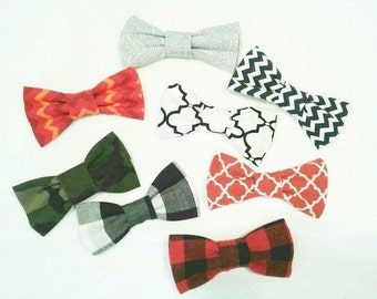Trio Pack Bow Ties, clip-on bow ties, little boy bowties