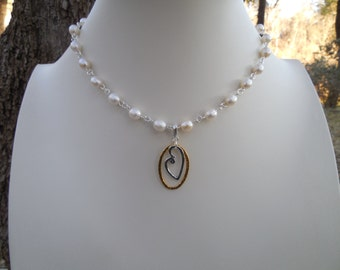 Convertible Freshwater Pearl and Mixed Metals Necklace Set