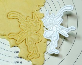 Pokemon Frog Ninja Cookie Cutter and Stamp