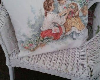 Lanarte cross stitch cushion