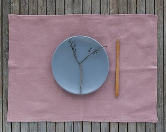 Linen Placemats Set, Table Linen Placemats, Washed Linen Placemat, Softened Linen, Table Placemats, Dinning Placemats