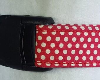 Red and White Polka Dot Dog Collar