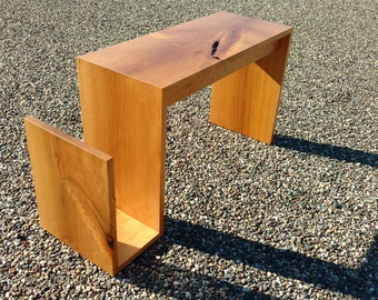 Magazine Bench Side Table