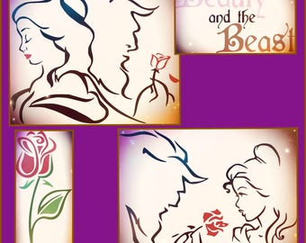 Disney Beauty & Beast SVG - Beauty and Beast Rose - Beauty and Beast SVG files for Cricut and Silhouette