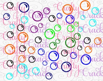 Outline of  Bubbles SVG, DXF, PNG - Digital Download for Silhouette Studio, Cricut Design Space