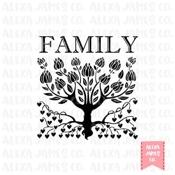 Family Tree SVG SVG Cut File Family Roots svg Magnolia Tree svg