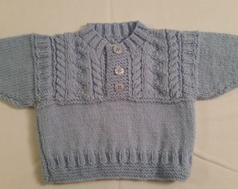 Blue baby sweater | Etsy