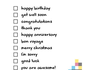 Choose your own Message Blank Greeting Card