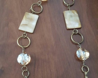 Beautiful gold and brown necklace