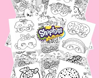 Shopkins coloring book and party masks
