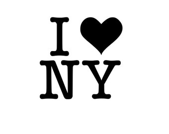 I love New York NY r outline SVG Digital Download Cuttable Files Cricut Silhouette