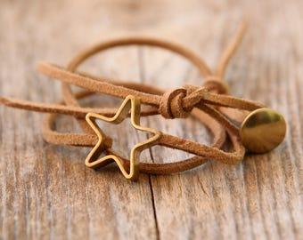 Tiny STAR bracelet, wish bracelet, gold bracelet, friendship bracelet, Simple Bracelet, Indian bracelet, Simple and modern bracelet