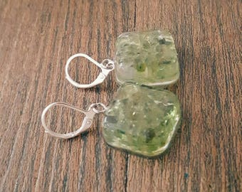 August Birthstone! Peridot Dangle Earrings